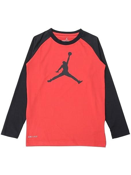 de8b92a3f1ecfa Amazon.com  Nike Air Jordan Big Boys 8-20 Jumbo Jumpman Dri-FIT Tee ...
