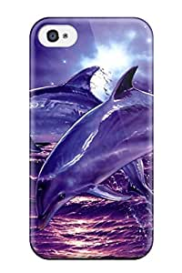 New Style Case Cover Dolphins Iphone 4/4s Protective Case 9637244K28617409