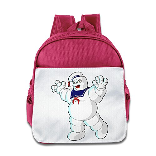 Price comparison product image BestGifts Custom Cute Stay Puft Marshmallow Man Teenager Schoolbag For 1-6 Years Old Pink