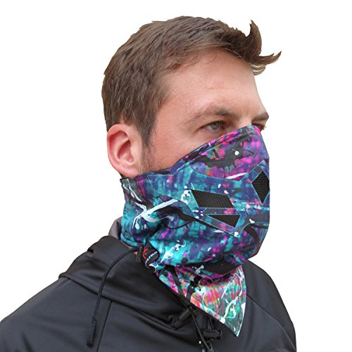 (Half Face Mask for Cold Winter Weather. Use this Half Balaclava for Snowboarding, Ski, Motorcycle. (Many Colors) (Rainbow))