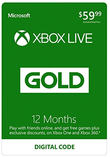 12 Month Xbox Live Gold Membership - [Digital Code] by Microsoft