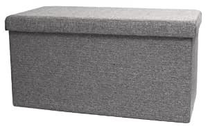 Amazon Com Fhe Group Folding Storage Ottoman Bench With
