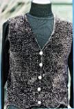 Touch Me Lace Bordered Vest Knitting Pattern