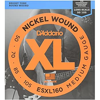 d 39 addario esxl160 nickel wound bass guitar strings medium 50 105 double ball end. Black Bedroom Furniture Sets. Home Design Ideas