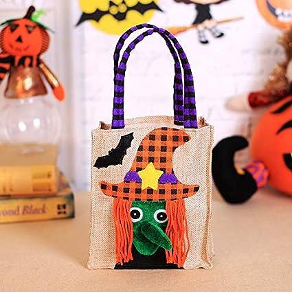 b88ab90d7a11 Amazon.com: Polymer True Utility Children Halloween Candy Bag Burlap ...