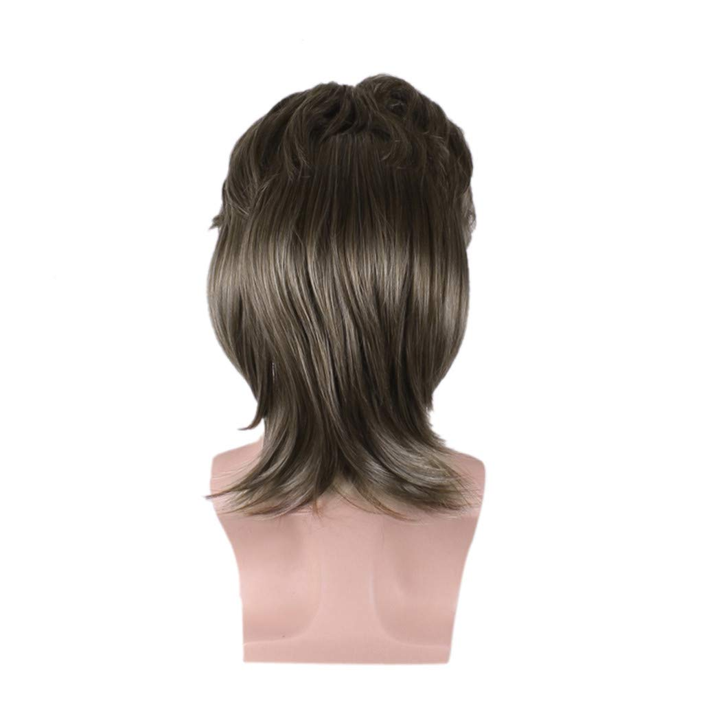 Wigs For Black Women 2019 Men Fashion Brown Short Hair Wig Perfect Carnivals Party Cosplay Festival by BOLUOYI (Image #7)