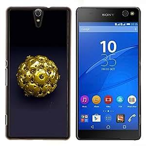 EJOOY---Cubierta de la caja de protección para la piel dura ** Sony Xperia C5 Ultra ** --Resumen de Oro