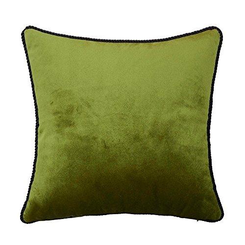 Velvet Rectangle Throw Pillow Decorative Solid Oblong Toss Pillow for Sofa/Bench/Couch, Dark Green, 12
