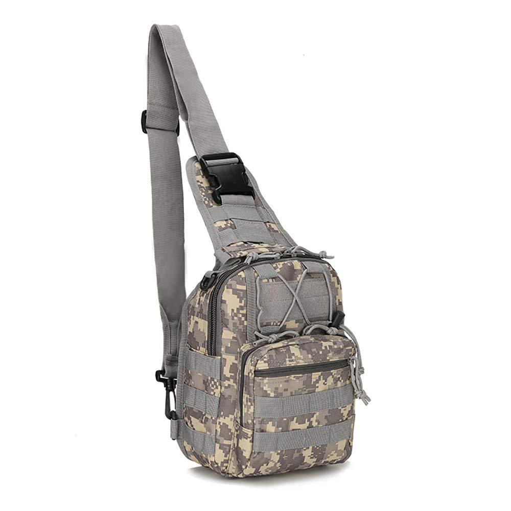 LIUYUNE,Sac tactique Sacrifice unilat/éral pour les amateurs militaires Sac de poitrine tactique diagonal Hommes et femmes Multi-fonction outdoor Escalade Portable
