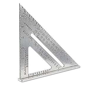 """10"""" X 7"""" Carpenter's Speed Square - SAE Measurements - Aluminum Alloy"""