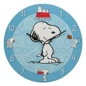 Vandor Peanuts 13-1/2-Inch Wall Clock, Multicolored