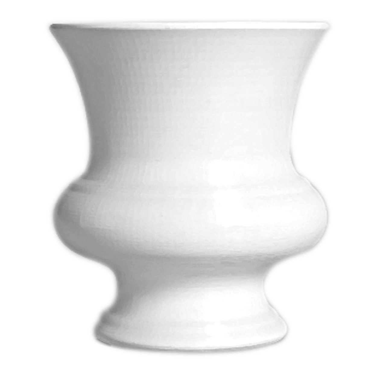 Syndicate Sales 9 1/2'' Designer Urn, White by Syndicate Sales
