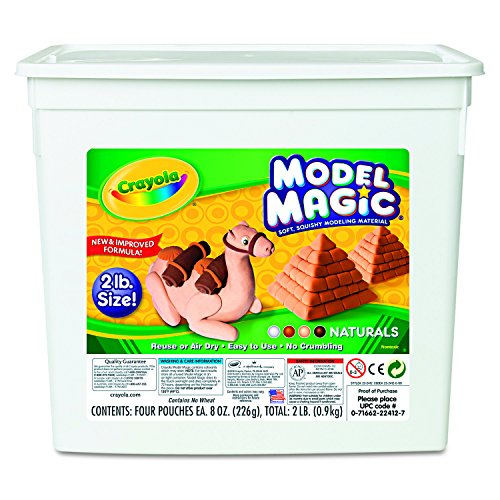 (Crayola 23-2412 Crayola Model Magic, Natural Colors, 2 lb,)
