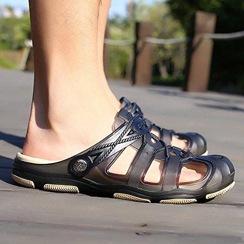 Hombres Zapatos Sandalias ALIKEEYLos Zapatillas Flats De Negro En Antideslizante Zapatos Casual Playa Hueca Transpirable wR5dqXfxWq