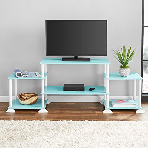 Price comparison product image New TV Stand Entertainment Center Media Console,  Teal + Free 2 Pack Organizer Storage Bins