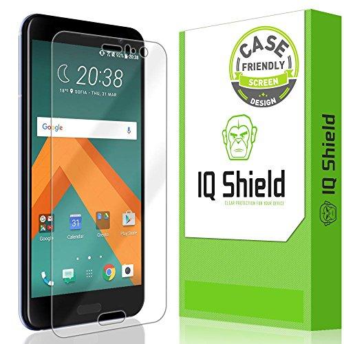 IQ Shield LiQuidSkin Full Coverage Screen Protector for HTC U11 (Case Friendly) HD Clear Anti-Bubble Film