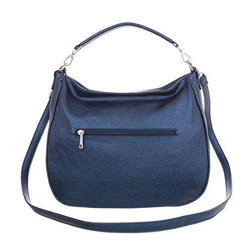 Ital Spalla Borsa Blu Donna A design rRzwqgr