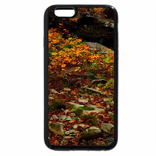 iPhone 6S Case, iPhone 6 Case (Black & White) - Mill Creek Waterfall