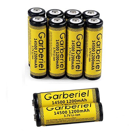FlashDealer AA Battery 3.7V 1200mAh Rechargeable 14500 Battery 10 PCS for Flashlight