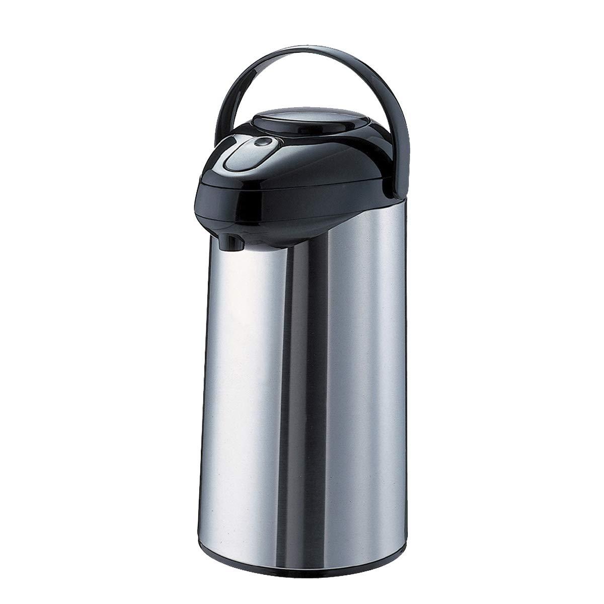 Service Ideas SSA300 SteelVac Airpot, Stainless Vacuum, 3 L