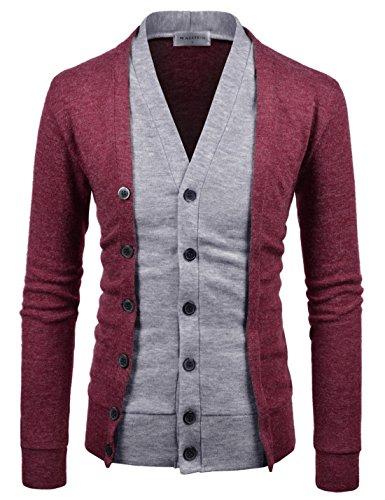 Layered Cardigan Sweater - 5