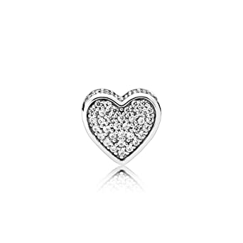 8610b7d64 Image Unavailable. Image not available for. Color: Pandora Sterling Silver Love  Charm 796084CZ