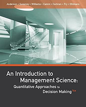 introduction to management science Buy introduction to management science 12 by bernard w taylor iii (isbn:  9780133778847) from amazon's book store everyday low prices and free  delivery.