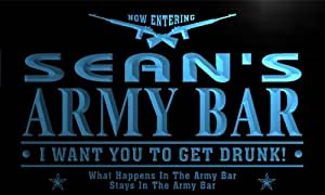 tq096-b Sean's Army Bar Beer Gun I Want You...... Neon Light Sign