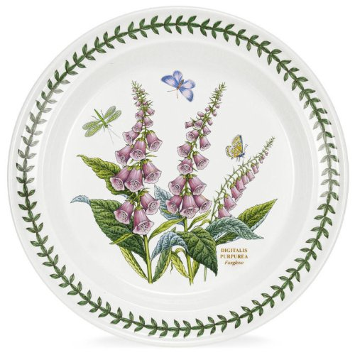 Plate Garden Collector - Portmeirion Botanic Garden Digitalis Purpurea Foxglove 10-in Dinner Plate