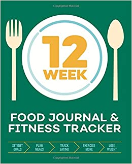 amazon 12 week food journal fitness tracker track eating plan