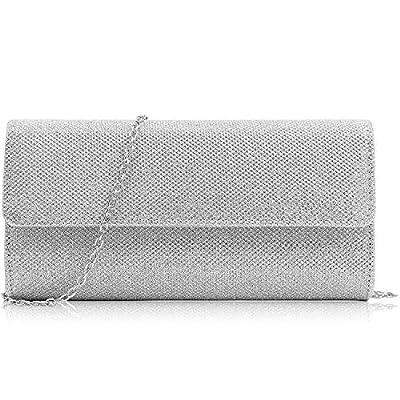 Milisente Women Clutches Glitter Evening Bag Elegant Clutch Purse Chain Shoulder Bag