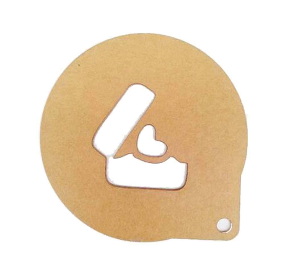 5 Acrylic DIY Spray Molds Printing Cake-Latte Molds Love Box Pattern, Clear - 5 Acrylic DIY Spray Molds Printing Cake-Latte Molds Love Box Pattern, Clear