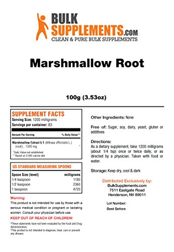 Bulksupplements Marshmallow Root Extract Powder (100 grams)
