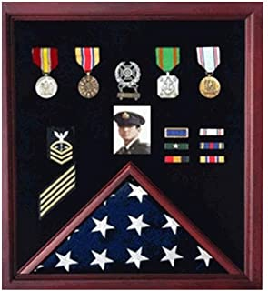 product image for 4 x 6 Flag Display Case Combination for Medals Photos - Color.