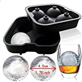 Charmed Ice Ball Maker Mold, 4 x 4.5 cm FDA approved food grade silicone (1)