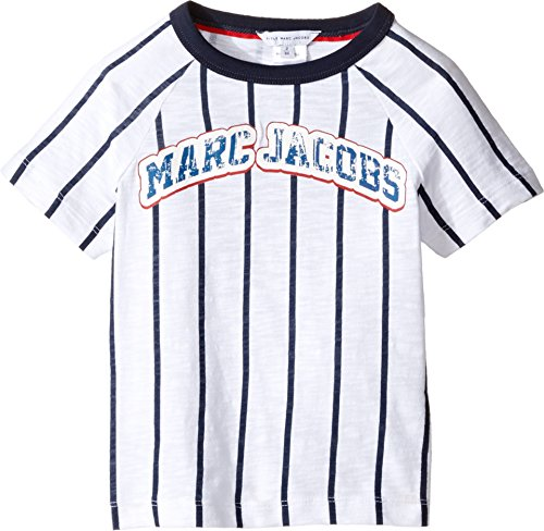 Price comparison product image Little Marc Jacobs Baby Boy's Mariniere Short Sleeve Tee Shirt (Toddler / Little Kids) Blanc / Marine T-Shirt