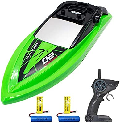 High Speed Remote Control Boat for Kids with Water Sensing Black VOLANTEXRC RC Boat for Pool and Lake Improved Waterproof Design for Boys or Girls