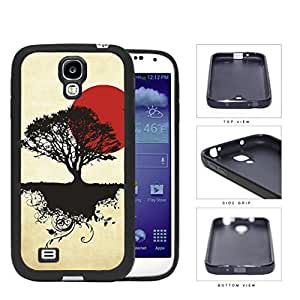 Asian Sunrise Nature And Earth Silhouette Rubber Silicone TPU Cell Phone Case Samsung Galaxy S4 SIV I9500