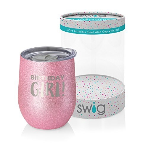 Swig Celebrations 12oz Wine-Birthday - Glass Birthday Celebration