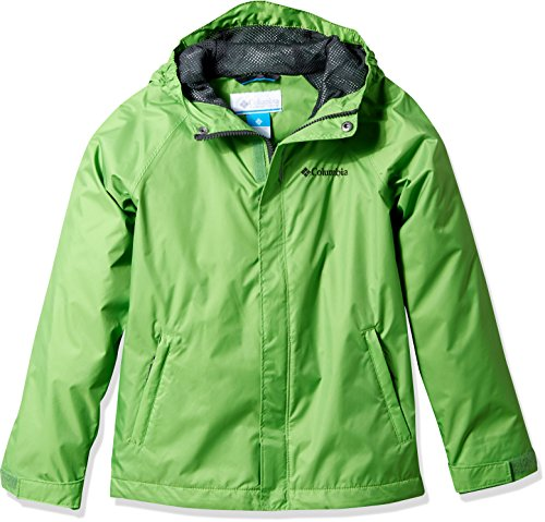 Columbia Little Kids Boy's Fast and Curious Rain Jacket, Cyber Green Campin, S