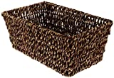 "Hoffmaster BSK2151A Seagrass Basket, fits guest towels 11""X17"", Basket Size 10""x 6-1/8""x 4-3/8"""