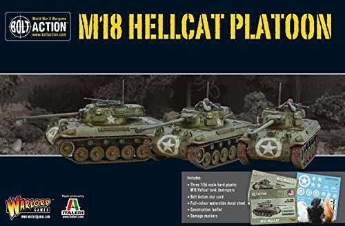Bolt Action Hellcat Platoon Box - Plastic (M18 Hellcat Tank Destroyer)