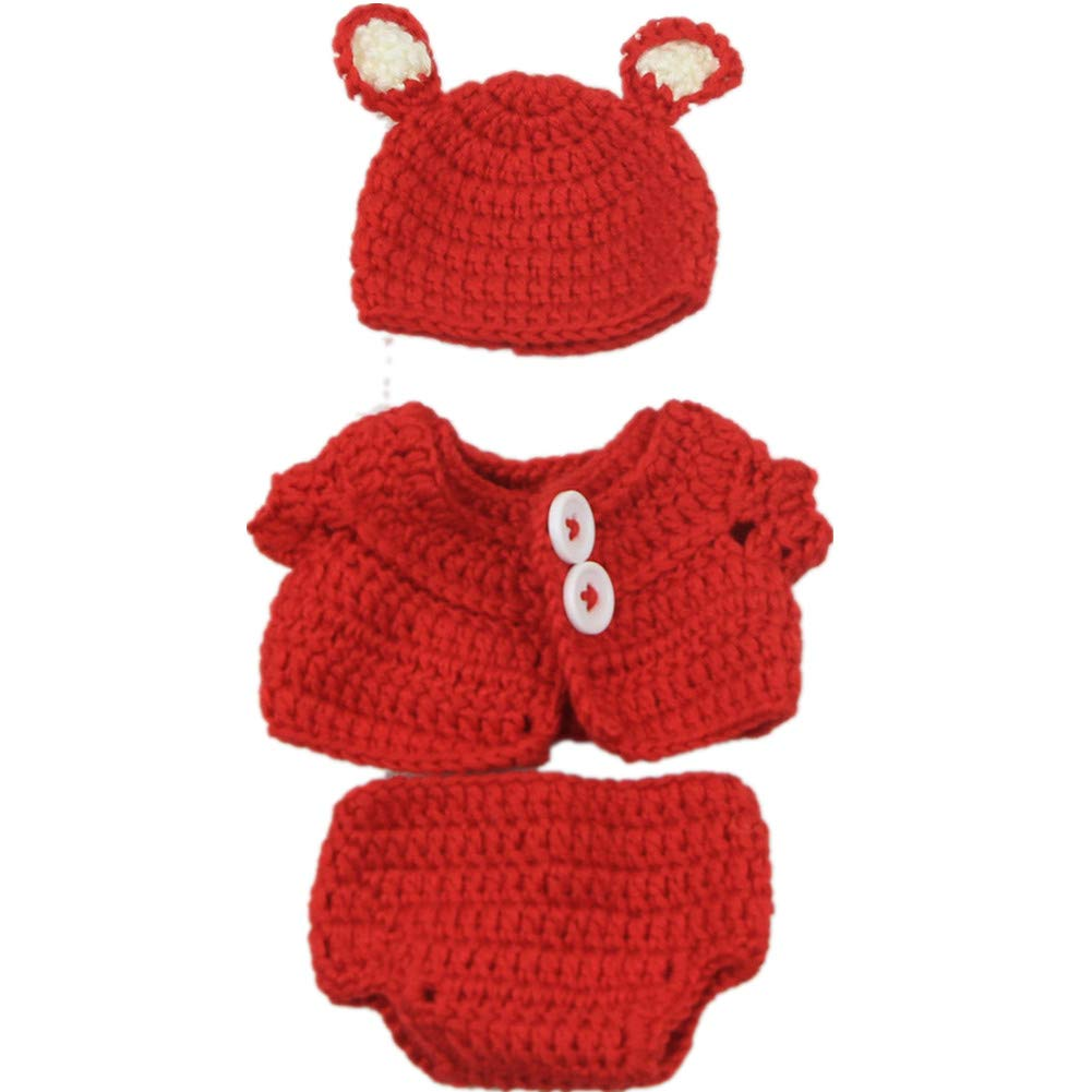KEIUMI Clothing Fit For 10-11 Inch Reborn Baby Boy Dolls And More Handmade Knitted Clothes Accessories (blue)