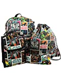 Star Wars 5 piece Backpack and Snack Bag Set (One Size, Black/Multi)