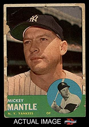 Amazoncom 1963 Topps 200 Mickey Mantle New York Yankees