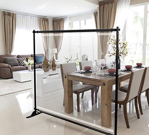 Floor Movable Screen Sneeze Guard Banner Full Tarp with Adjustable Banner Stand Free Standing Quick and Easy Assembly MISLDA Color : A, Size : 60/×160cm