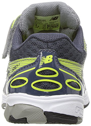 New Balance Boys' 680 V3 Running Shoe, Grey/Hi-Lite, 12 W US Little Kid Photo #3