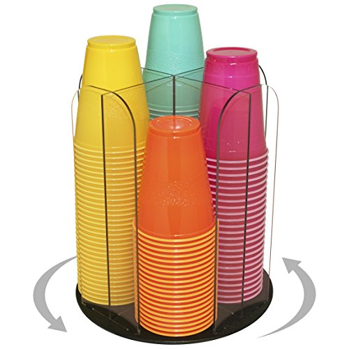 Beautiful Clear, Spinning Organizer for Coffee Cups and Lids, Solos Too! 12''H x 10'' Wide. Proudly Made by PPM is the USA! by Plastic & Products Marketing PPM