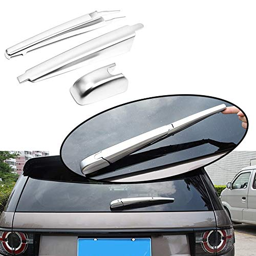 Wipers Hukcus 3Pcs Chrome ABS Rear Window Wiper Tail Windscreen Frame Cover Trim For Land Rover Discovery Sport 2015-2017 2018 2019