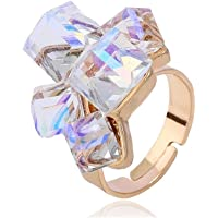 Niome Adjustable Open Rings Jewelry Acrylic Cube Flower Alloy Ring Fashion Gifts For Women